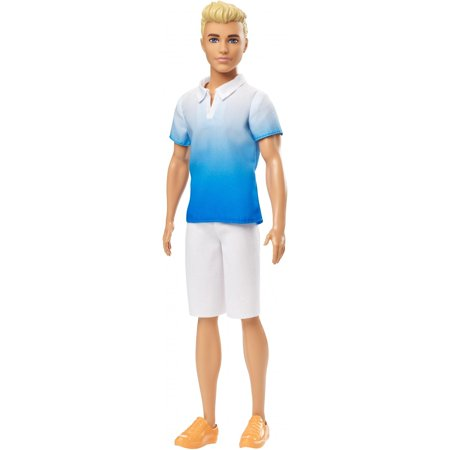 Barbie Ken Fashionistas Doll, Blonde Wearing Blue Ombre Shirt
