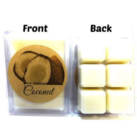 Coconut 3.2 Ounce Pack of Handmade Soy Wax Tarts - Scent Brick, Wickless - Pie Scented Soy Wax Candle