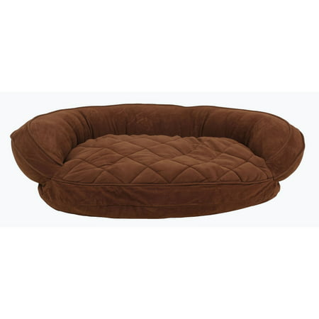Carolina Pet Company Microfiber Quilted Bolster Bed with Moisture Barrier Protection