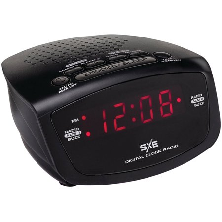 sxe sxe86001 am fm dual alarm clock radio. Black Bedroom Furniture Sets. Home Design Ideas