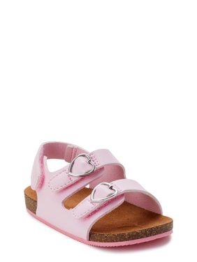 Wonder Nation Two Buckle Footbed Sandal (Infant Girls)