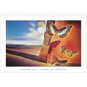 Landscape with Butterflies   Paysage auxPapillons   by Salvador Dali 36x24 Museum Art Print Poster