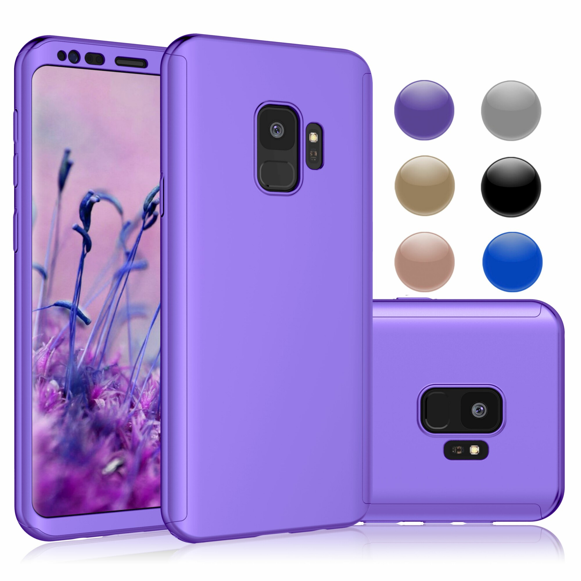 Galaxy S9 Case, Samsung S9 Sturdy Case, Galaxy S9 Cover, Njjex Hard Case Full Protective Plastic Case Cover For Samsung Galaxy S9 5.8 Inch -Purple