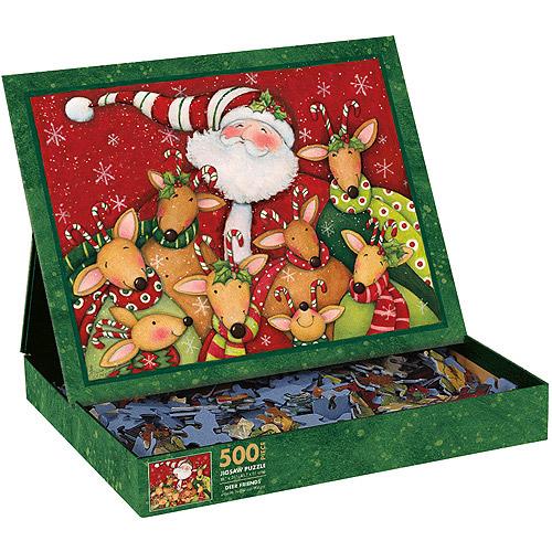 Deer Friends and Santa Puzzle, 500 Pieces