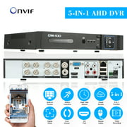 OWSOO XVR 8CH Channel 1080P Hybrid NVR AHD TVI CVI DVR 5-in-1 PTZ Network DVR CCTV Security P2P Support for Android/IOS APP Control Motion Detection for Surveillance Camera
