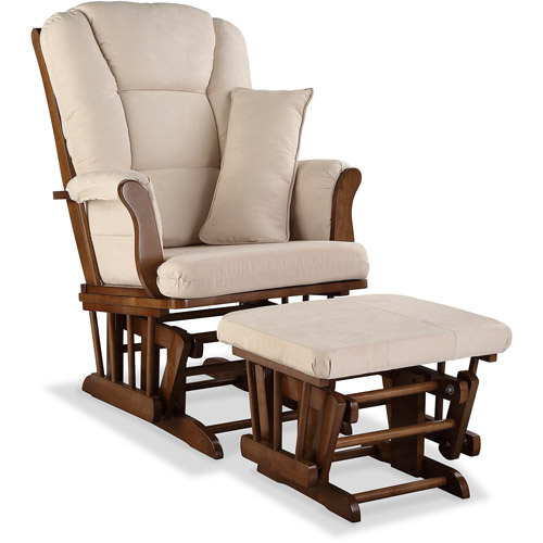 Storkcraft Tuscany Custom Glider & Ottoman Set with Solid Pattern