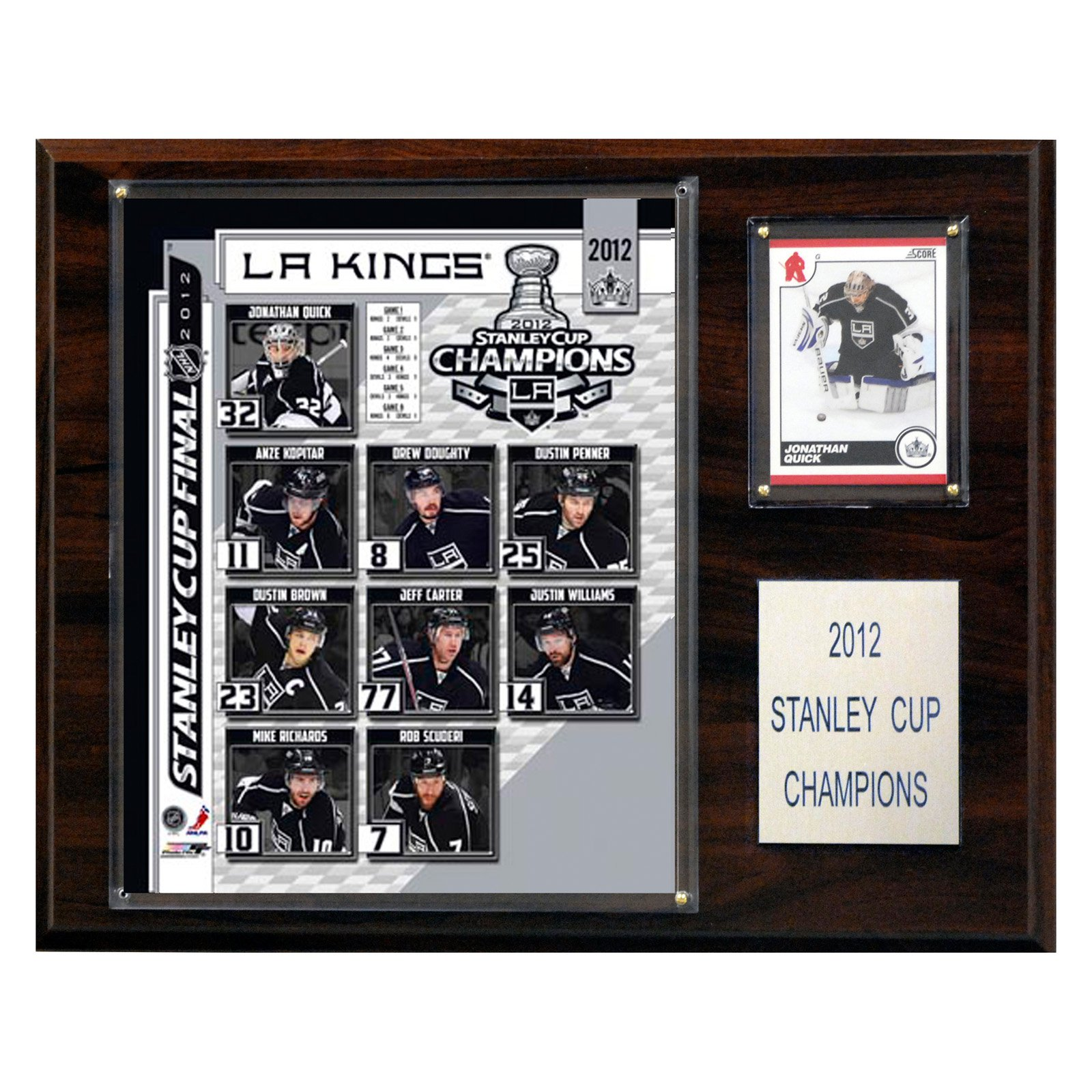 C and I Collectables 1215SC1212 x 15 NHL Los Angeles Kings 2011-2012 Stanley Cup Champions Plaque