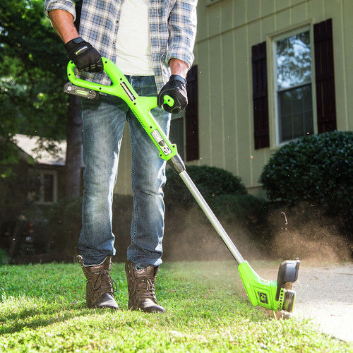 Greenworks 10-Inch 24V Cordless String Trimmer Battery Not Included ST24B01