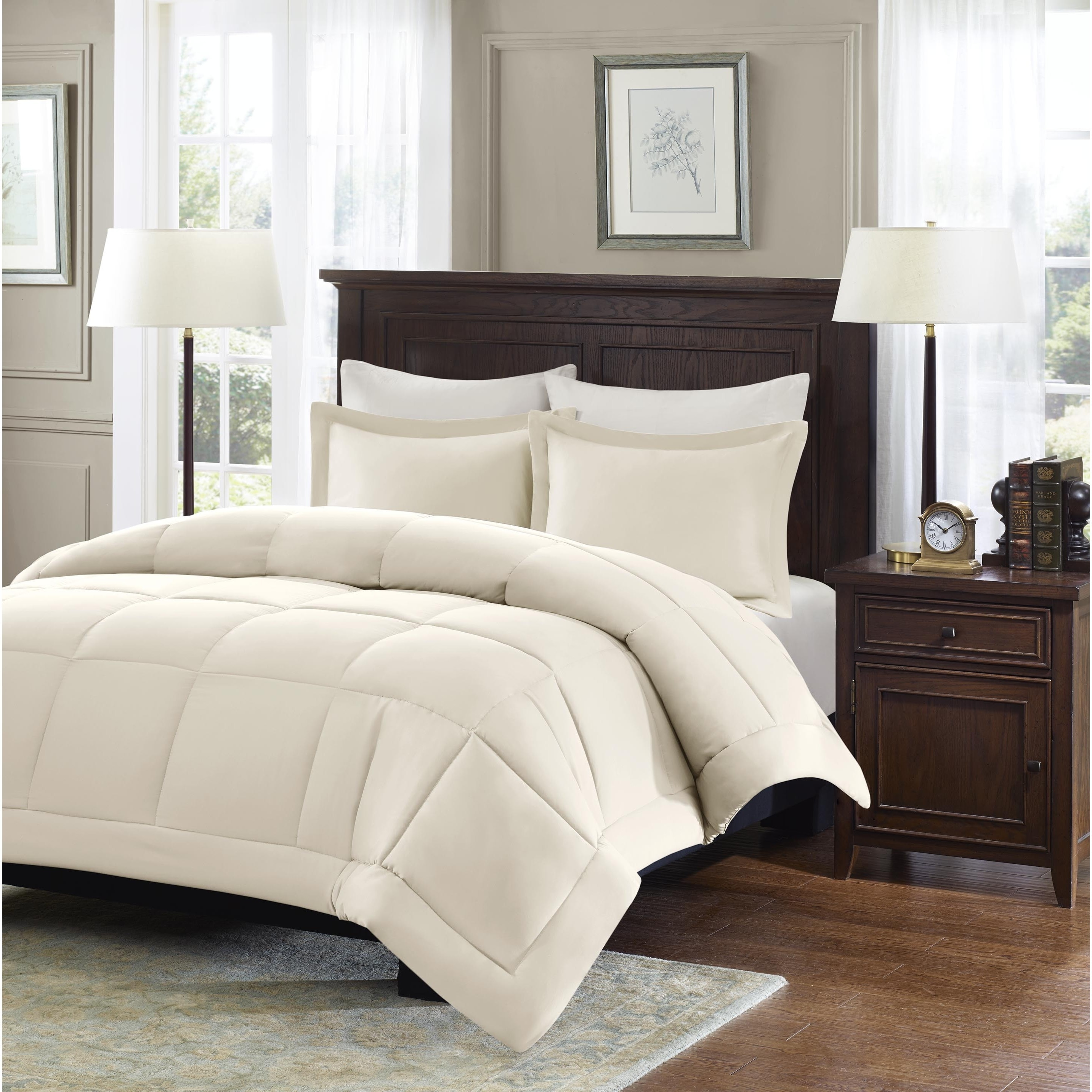 insert box fill power twin loops down white hypoallergenic comforter luxurious with polyester lutwsiwhgodo king warranty weight corner size siliconized goose fiberfill lifetime baffle duvet design plush alternative oz