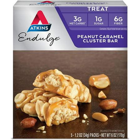 Image of Atkins Endulge Bar Peanut Caramel Cluster -- 1.2oz 5 Bars