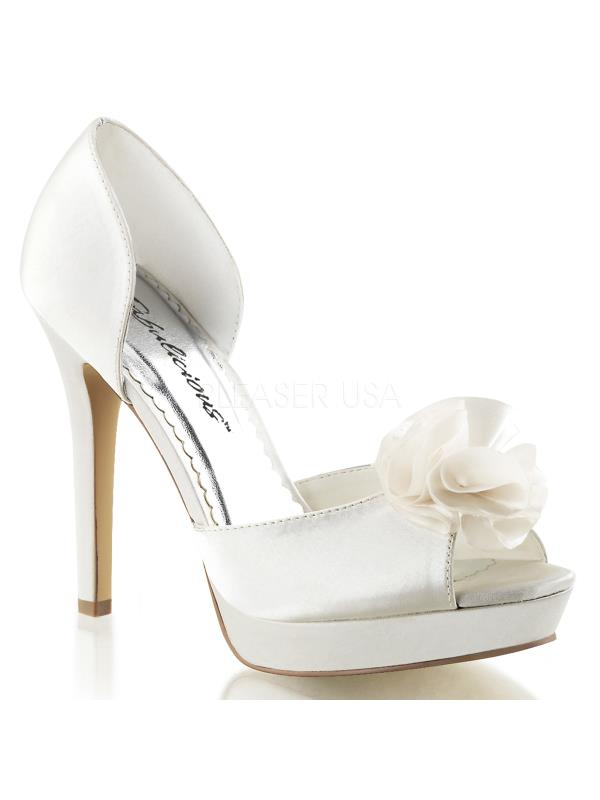 "LUMINA34/IVSA Fabulicious Shoes 4 3/4"" Lumina Ivory Satin Size: 11"