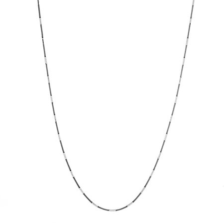 18K White Gold Sterling Silver Snake Two Tone Chain  (18k Smoky Necklace)