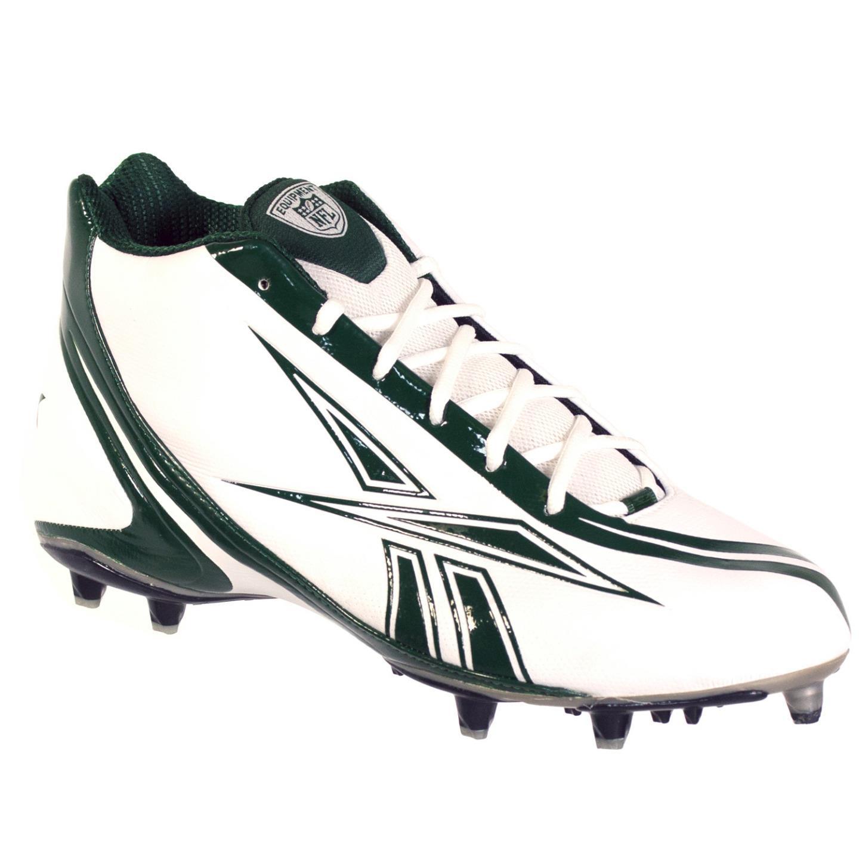 REEBOK PRO BURNER SPEED MID M3 MENS FOOTBALL CLEATS WHITE GREEN 12
