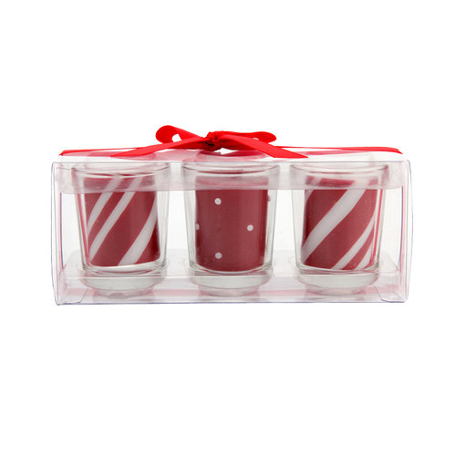 Holiday Time Candy Cane Votive Set, 3pc