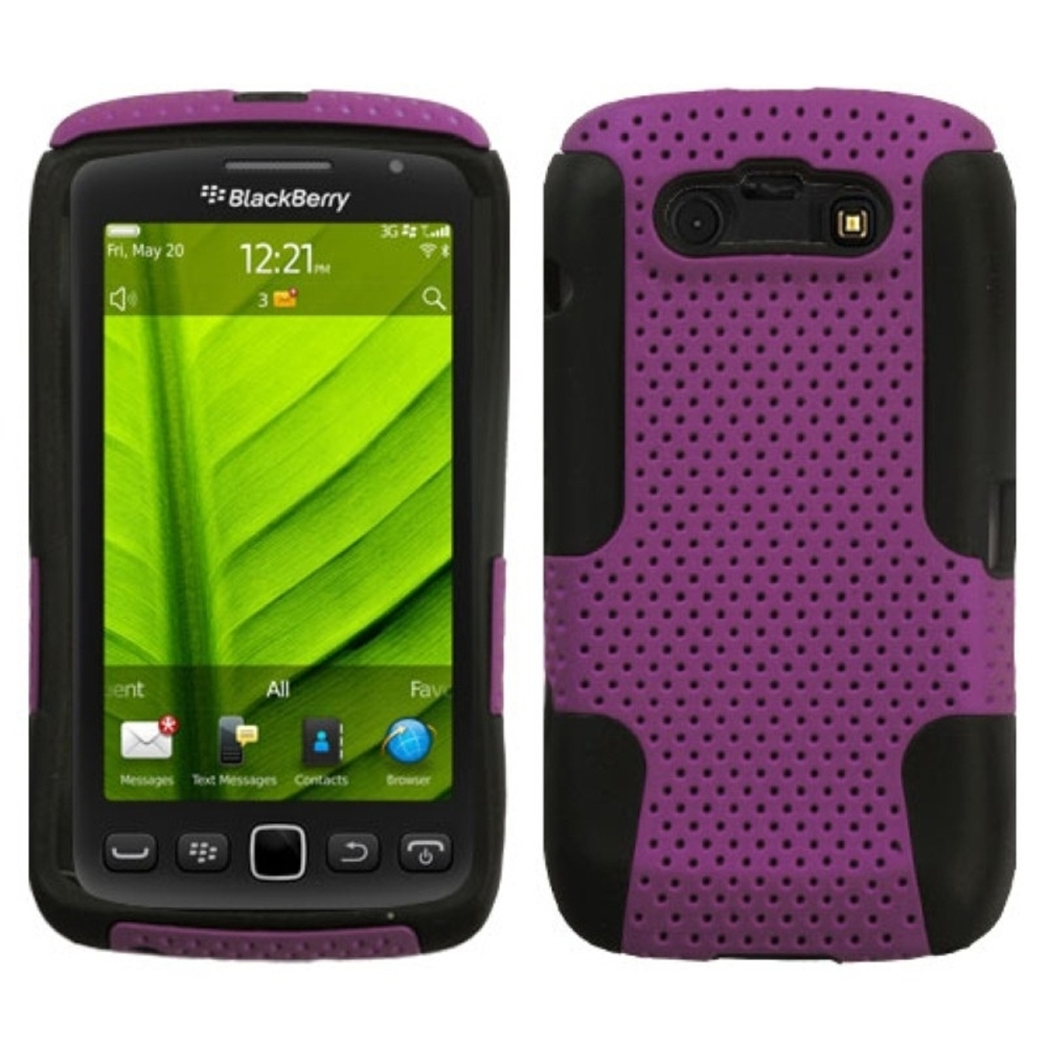 Insten Purple/Black Astronoot Case Cover For BLACKBERRY 9850 Torch 9860 Torch