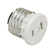 Leviton 125 15 Amp, 660 Watt, 125 Volt, 2-Pole, 2-Wire, Socket To Outlet Adapter