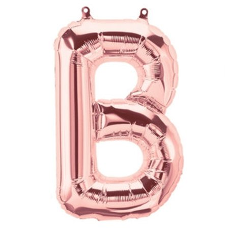 BalsaCircle Blush 40-Inch tall Mylar Foil Balloon - Wedding Event Graduation Party Decorations Supplies Christmas Gift Shaped Mylar Balloon