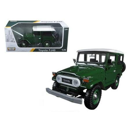 Motormax 79323gr Toyota FJ40 Green 1-24 Diecast Model Car - image 1 of 1