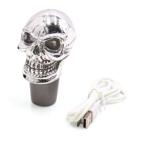 Skull Head Design Colorful LED Light Manual Gear Shift Knob Lever for Auto Car - image 8 of 8