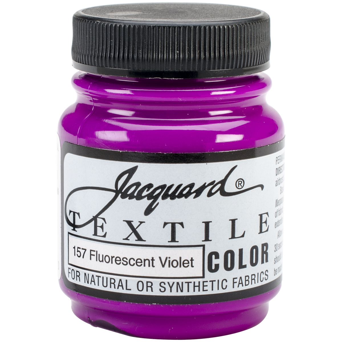 Jacquard Textile Color Fabric Paint 2.25oz-Fluorescent Violet