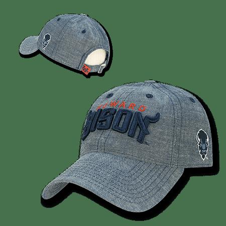 NCAA Howard University Bisons 6 Panel Cotton Relaxed Denim Caps Hats Blue