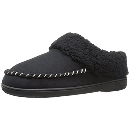 fcf32b79a9f3 Dearfoams - Womens Microsuede Faux Fur Clog Slippers - Walmart.com