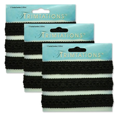 - Expo Int'l Pack of 3 Sheena Woven Circle Braid Trim Pack of 2 Yards