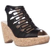 Womens Jambu Lillian Strappy Wedge Sandals - Black