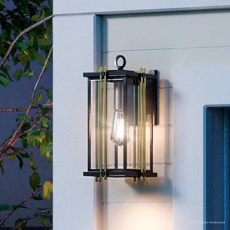 Urban Ambiance Luxury Transitional Outdoor Wall Light, Large Size: 12.75