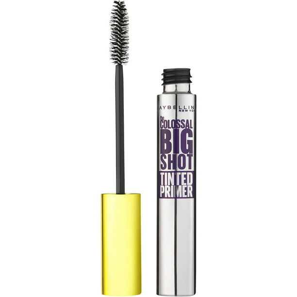 Maybelline New York Volum' Express The Colossal Big Shot Tinted Primer, Black, 0.26 fl oz
