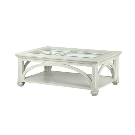 Magnussen Han Park Coffee Table With Casters In Vintage White