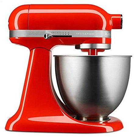 KitchenAid Artisan Mini 3.5 Quart Tilt-Head Stand Mixer, Hot Sauce (KSM3311XHT)