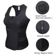 aaf076fa6f5 Camellias Women s Sweat Neoprene Sauna Suit Tank Top Vest With Adjustable  Shaper Sports Waist Trainer Belt