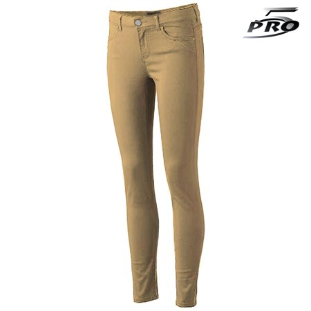 Pro 5 Apparel Stretched Girls Skinny Pants Khaki School Uniform 4-14 Size - Girls Apparel