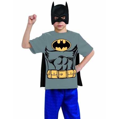 Batman Shirt Mask with Cape Child Halloween Costume - Halloween Costume With Mask