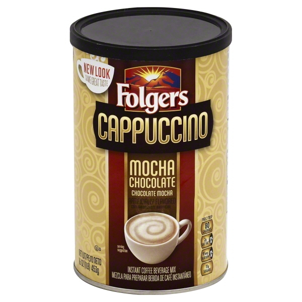 (3 Pack) JM Smucker Folgers Cappuccino Coffee Beverage Mix, 16 oz