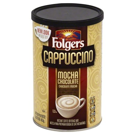 (3 Pack) JM Smucker Folgers Cappuccino Coffee Beverage Mix, 16 oz Nestle Chocolate Coffee