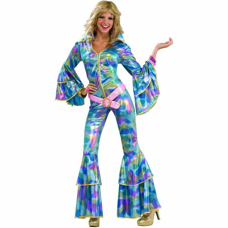 '70s disco mama adult halloween costume M/L - Plus Size 70s Costumes