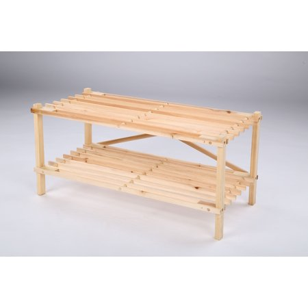 WOODEN ORGANIZER 2 SHELF BY MOXAVA. NATURAL ()