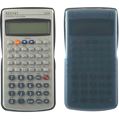 Sentry 2-Line 228-Function Scientific Calculator, Silver