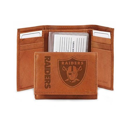 NFL Oakland Raiders Leather Trifold Wallet - Oakland Raiders Party Supplies