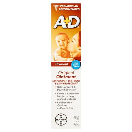 A+D Rash originale couche-culotte Pommade et Apaisant, 1,5 oz