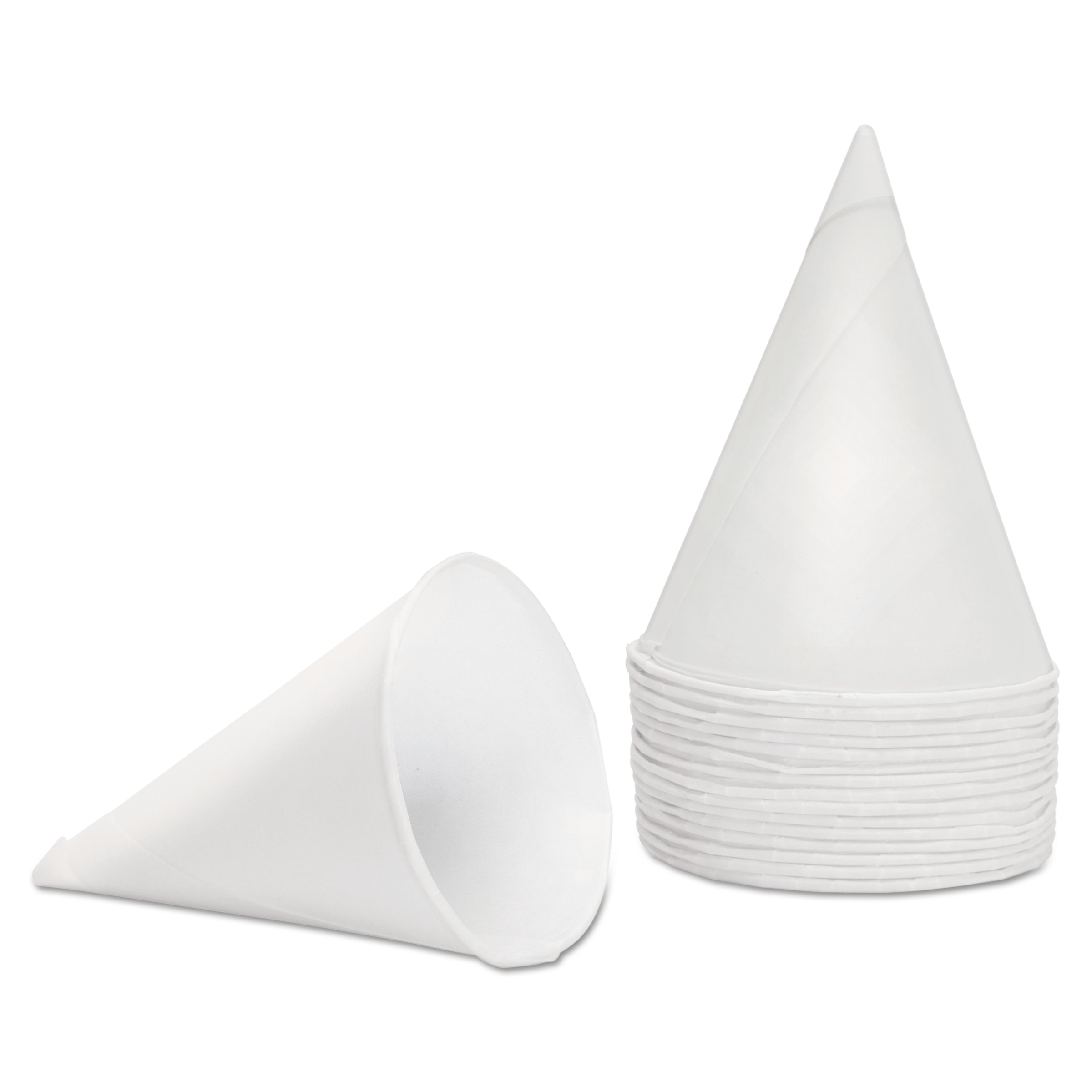 Konie 4.5 oz. White Paper Cone Cups, 5000 count by Konie Cups International