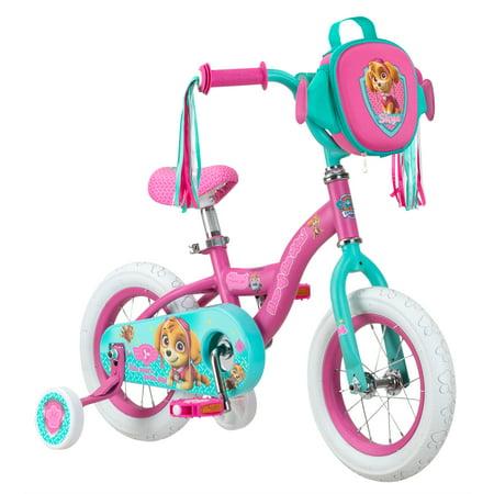 Nickelodeon Paw Patrol Skye kids bike, 12-inch weel, training wheels, girls, pink