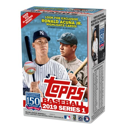 2019 TOPPS MLB BASEBALL SERIES 1 VALUE BOX- RELIC EDITION WITH 99 CARDS AND EXCLUSIVE RONALD ACUNA JR