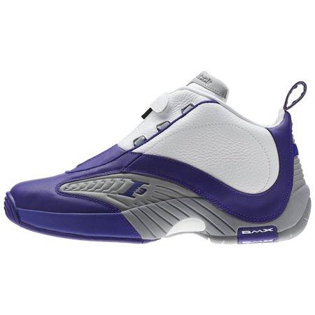 Mens Reebok Answer IV 4 PE Kobe Team Purple Flat Grey White BS9847 (Team Handball Shoes)
