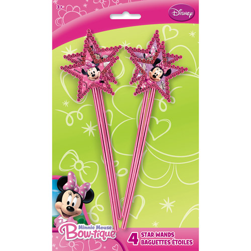 Minnie Mouse Wands, 4pk