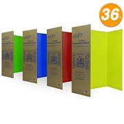 """Tri-Fold Presentation Board 36"""" x 48"""" Display Exhibition Board Lightweight and Portable with Smooth Surface Great Business presentations - Assorted Colors - by Emraw"""