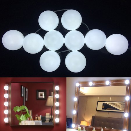 Portable Make Up Lamp Dimmable Light Bulbs Led Cosmetic Mirror Lights Kit Walmart Canada