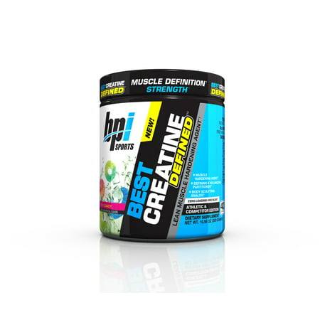 BPI Sports Best Creatine Defined Powder, Sour Candy, 40 (Best Liquid To Take Creatine With)